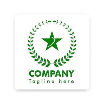 Coton vert et logo symbole étoile