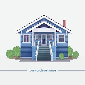 Cottage cottage bleu