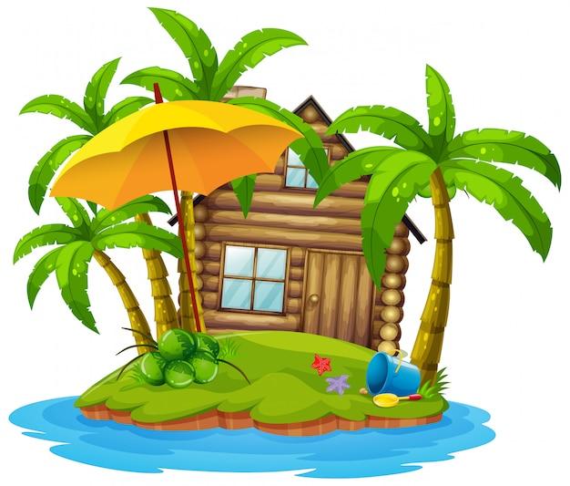 Cottage sur l'île