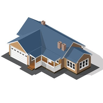 Cottage isométrique vector