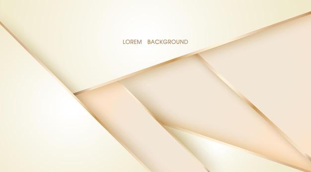 La couche abstraite beige chevauche l'illustration avec l'arrière-plan de la ligne dorée