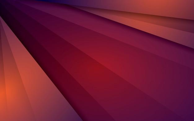 Couche de chevauchement fond abstrait vecteur moderne orange sur fond rouge