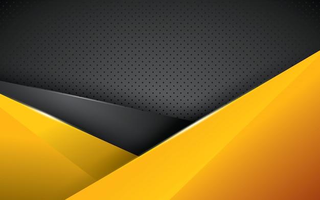 Couche de chevauchement de fond géométrique jaune
