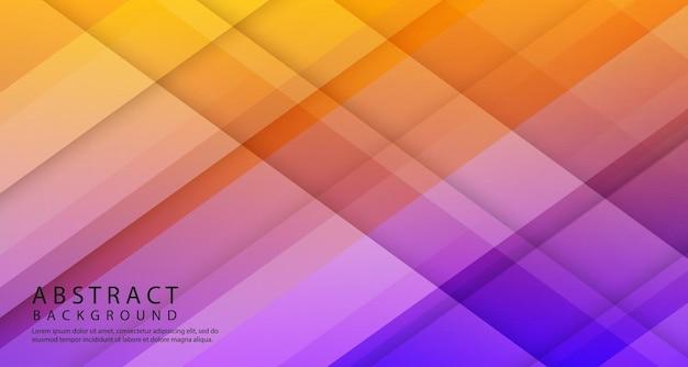 Couche de chevauchement géométrique 3d abstraite avec des formes dégradées colorées