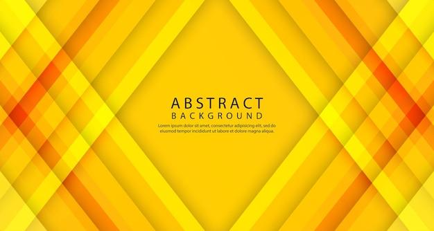 Couche de chevauchement géométrique 3d abstraite avec des rayures dégradées orange
