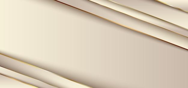 Couche de chevauchement de rayures dorées diagonales élégantes abstraites