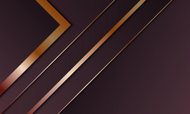 Couche de chevauchement de rayures violettes de luxe abstraites avec fond de rayures dorées. illustration vectorielle.