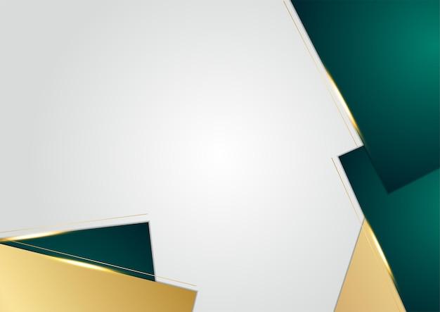 Couche de chevauchement vert foncé de luxe abstrait avec ligne dorée. fond de luxe et élégant. conception de modèle abstrait. conception pour présentation, bannière, couverture, carte de visite