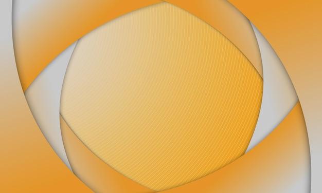 Couche de courbe jaune abstraite chevauchant l'arrière-plan. meilleur design pour votre entreprise.