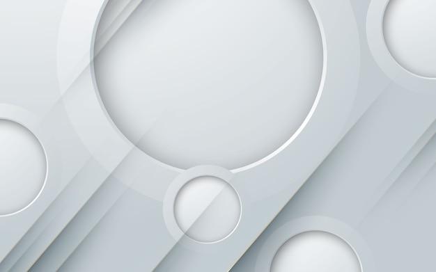 Couche de papier découpé cercle 3d abstrait fond blanc