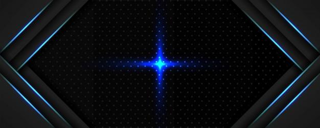Couche de superposition de modèle de fond sombre élégant