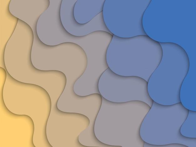 Couches abstraites de papier ondulé horizontal