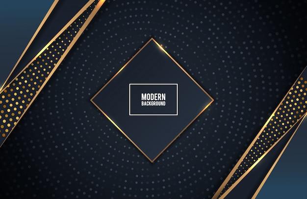 Couches de fond de luxe doré et noir