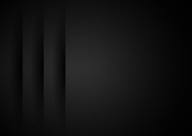 Les couches de papier noir abstrait se chevauchent de fond