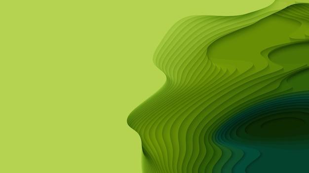 Couches de papier vert