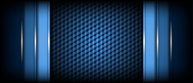 Couches superposées modernes de fond bleu clair et foncé