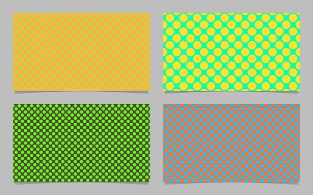 Couleur abstraite modèle de point de polka carte de visite arrière-plan - carte d'identité vectorielle graphique