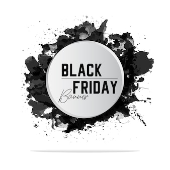 Couleur de la bannière noire en blanc vendredi
