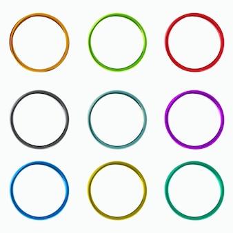 Couleur des cercles abstraits, éléments de boucles