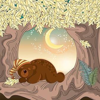 Couleur d'automne Vector Illustration Set DREAMING BEAR