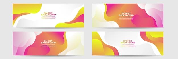 Couleur de dégradé de fond abstrait bannière moderne. dégradé jaune et rose avec décoration en demi-teinte.