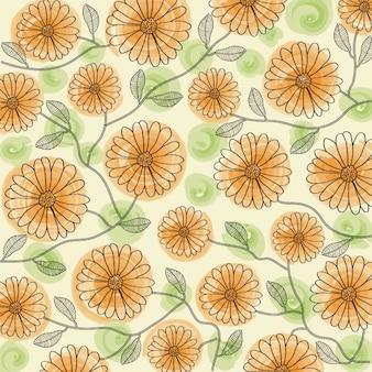 Couleur délicate floral background