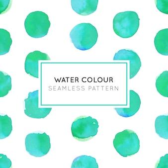 Couleur de l'eau green dot seamless pattern