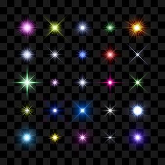 Couleur éclat d'étoile, étoiles et étincelles éclatantes éclatent