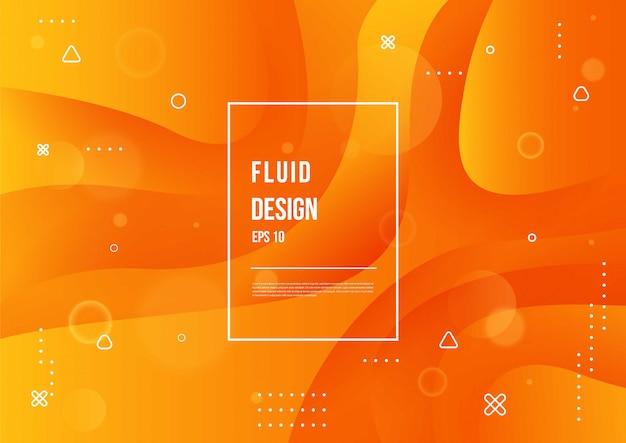 Couleur fluide abstraite de fond dégradé liquide de couleur néon avec dynamique géométrique moderne