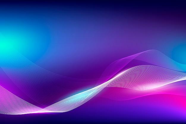 Couleur fluide abstraite et onde linéaire avec un fond clair