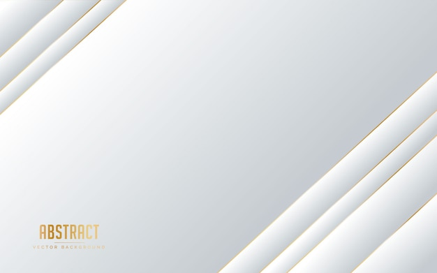 Couleur de fond abstrait blanc et gris avec la couleur de ligne dorée.