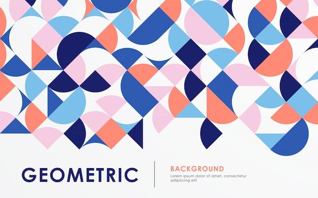 Couleur de fond abstrait forme géométrique rétro
