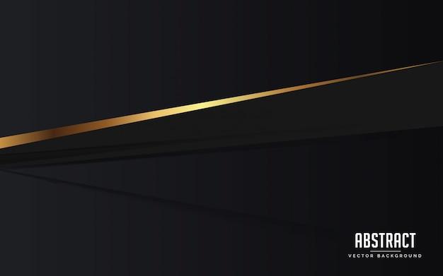 Couleur de fond abstrait luxe noir et couleur d'or moderne