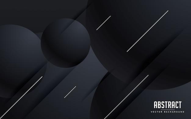 Couleur de fond abstrait noir avec des lignes modernes