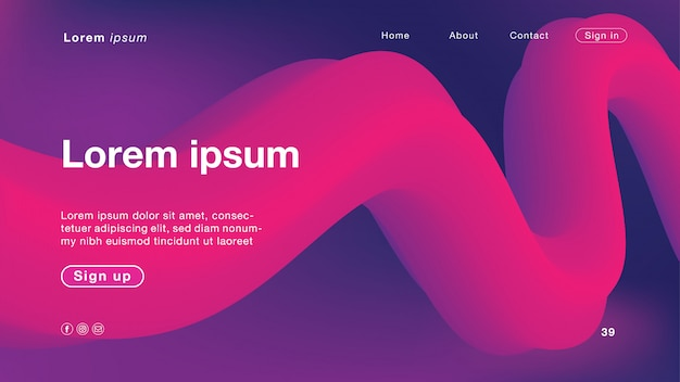 Couleur de fond abstrait violet et rose pour la page d'accueil