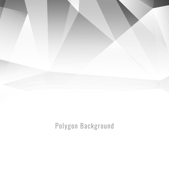 Couleur grise élégante conception polygonale fond