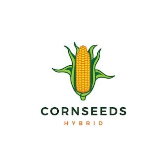 Couleur d'icône de logo vectoriel maïs