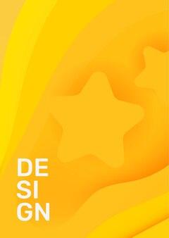 Couleur jaune créatif papier vertical coupé style illustration affaires abstrait