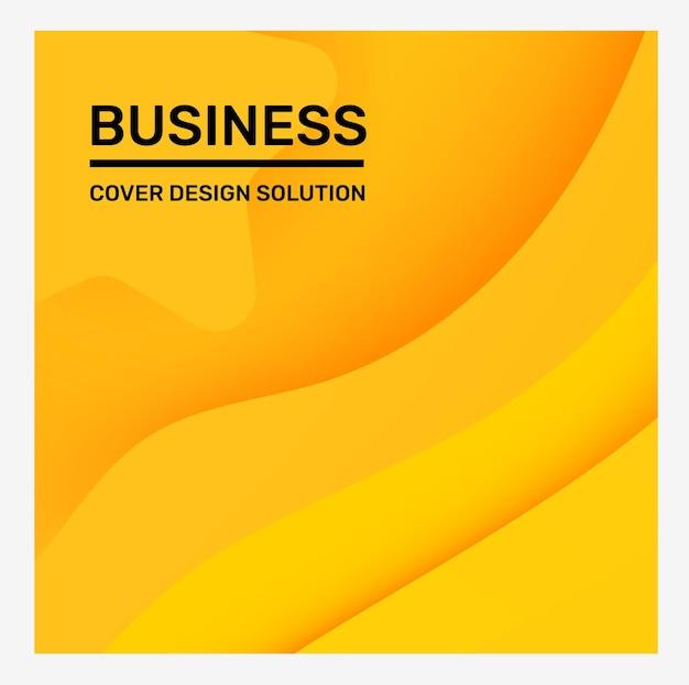 Couleur jaune vif créatif affaires abstrait papier découpé style illustration abstraction