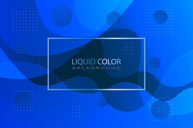 Couleur liquide bleue comme toile de fond