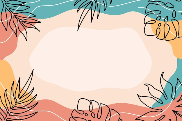 Couleur minimaliste de fond organique abstrait plat