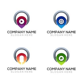 Couleur moderne de dégradé de logo d'emplacement de société abstraite
