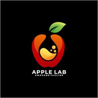 Couleur moderne de vecteur de conception de logo de laboratoire d'apple