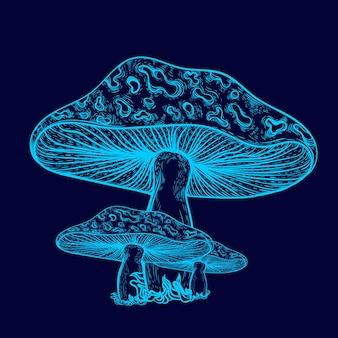 Couleur néon de champignon