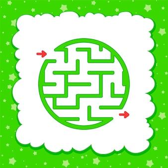 Couleur ronde labyrinthe simple. feuilles de travail pour enfants. page d'activité.