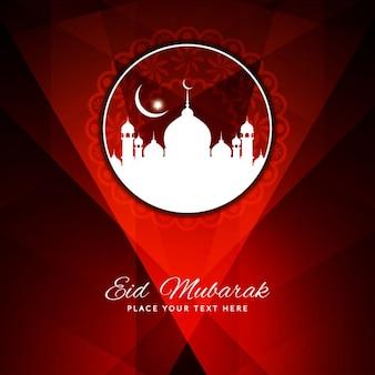 La couleur rouge religieuse eid mubarak conception de fond
