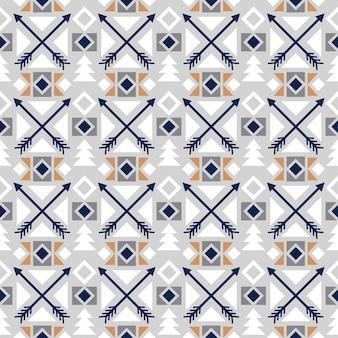 Couleur transparente motif ethnique avec décor de flèche