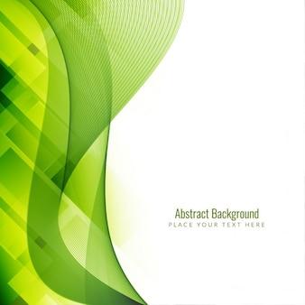 La couleur verte fond géométrique avec la vague