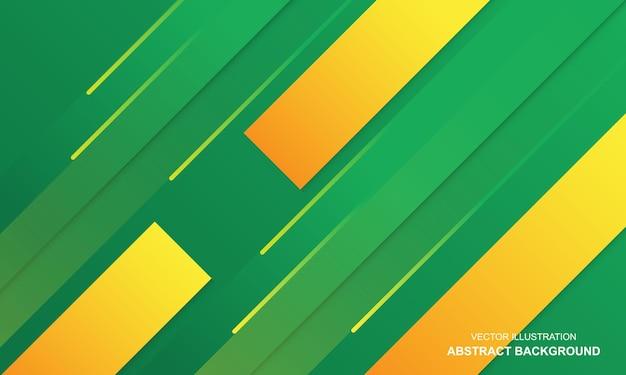 Couleur verte et jaune de fond abstrait moderne