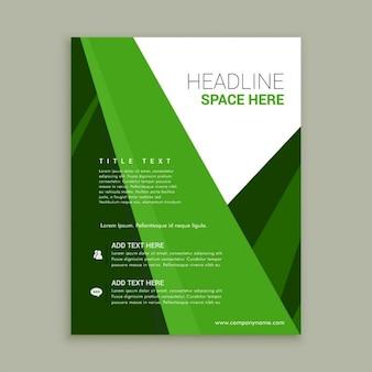 Couleur verte modèle brochure flyer